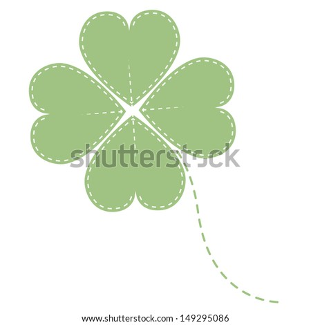 green clover four leaf - stock photo