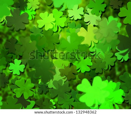Green Clover Texture Background - stock photo