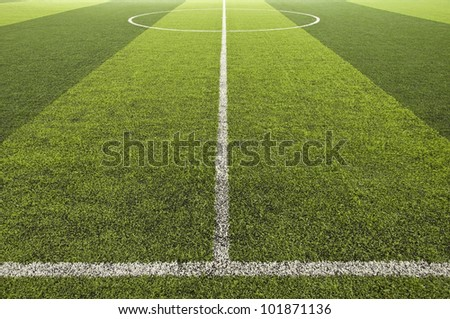 Green color Soccer field - stock photo