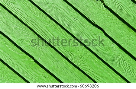 green colored wood panels - stock photo