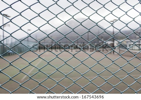 Green colour steel net
