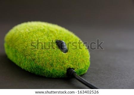 green computer mouse concept - stock photo