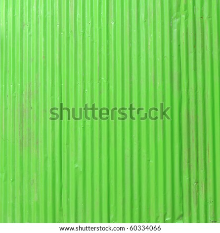 green corrugated fence - stock photo