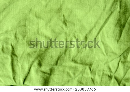 green cotton close up texture background - stock photo