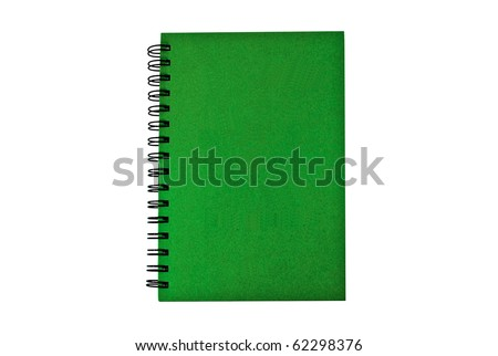 Green cover  notebook - stock photo