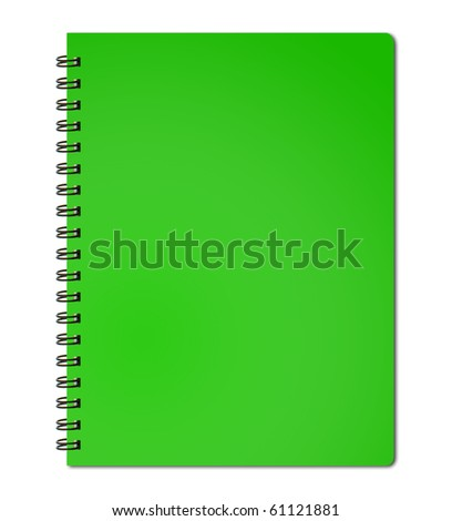 Green cover of notebook - stock photo
