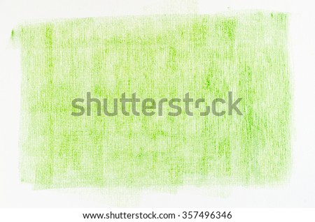green crayon drawings on white paper background texture - stock photo