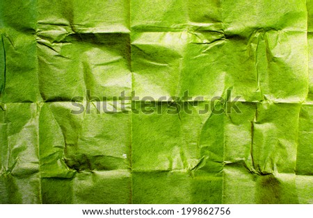 green crumpled paper - stock photo