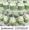 Green cupcake - stock photo