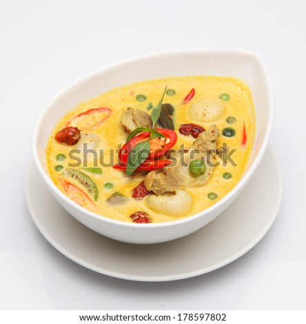 Green curry of Thailand - stock photo