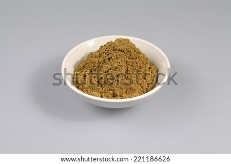 Green Curry powder - stock photo