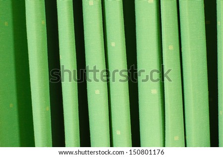 green curtain pattern