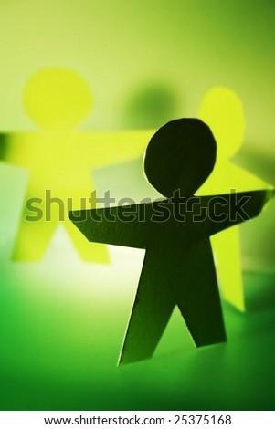 green cutouts people stock photo royalty free 25375168 shutterstock
