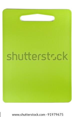 green cutting board - stock photo