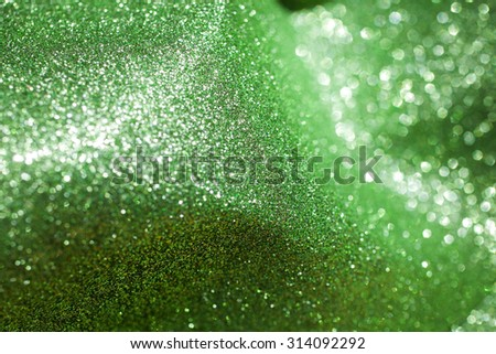 Green defocused abstract lights background. Green bokeh background - stock photo