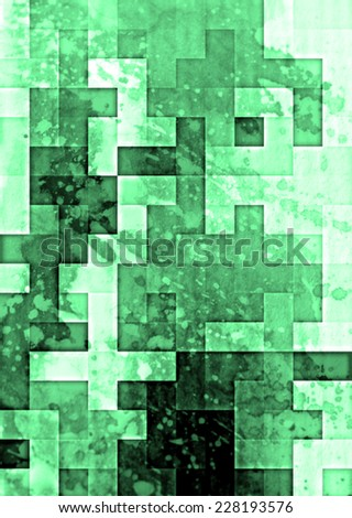 green  detailed grunge abstract textured collage design ,background or texture