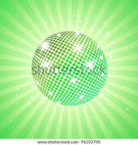 Green disco ball - stock photo