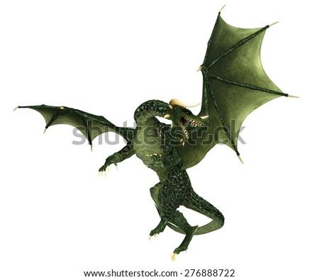 green dragon - stock photo