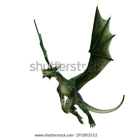 green dragon cool down - stock photo
