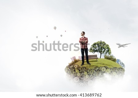 Green eco life - stock photo