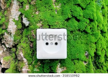 Green eco nature energy concept - stock photo