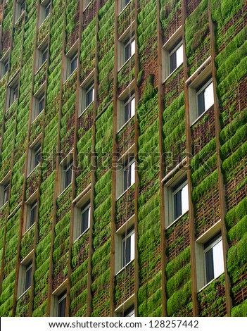 Green ecological building - stock photo