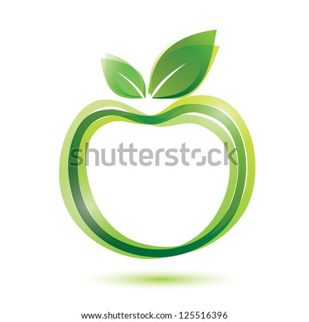 green , ecology and bio food concept. raster version - stock photo