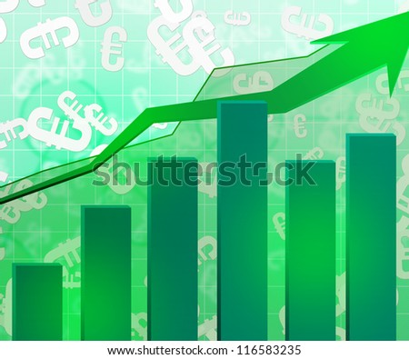Green Economic Graph Background