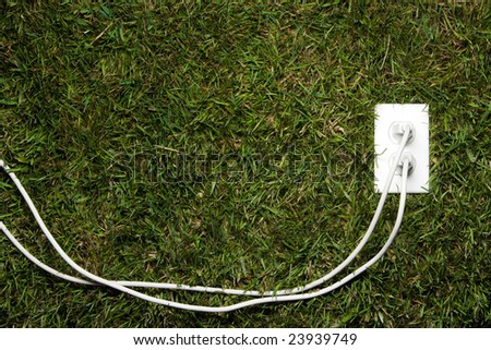 Green energy at home - stock photo