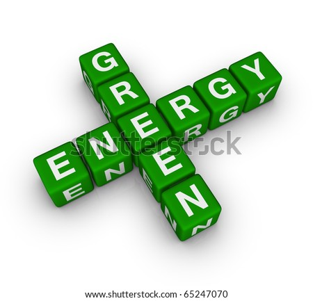 green energy label - stock photo