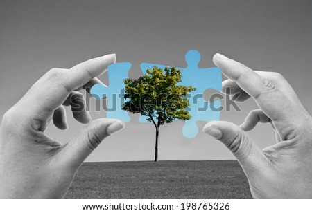 Green energy solutions - stock photo