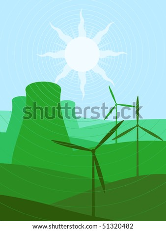 Green energy sources - raster