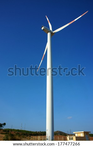 Green energy supply, wind turbine, it's future technology for eco power production