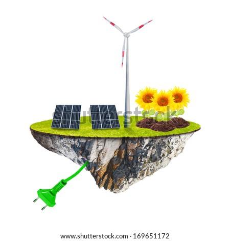 Green energy. Sustainable development and renewable resoures concept.  - stock photo