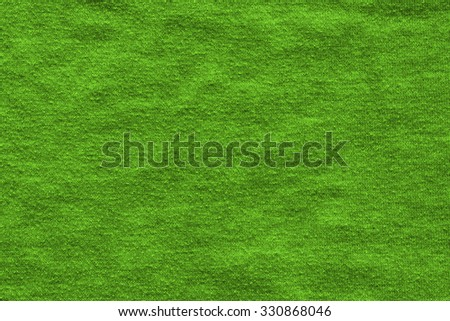 Green fabric background or pattern - stock photo