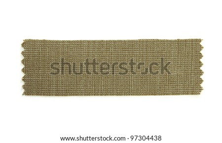 green fabric sample isolated on white - stock photo