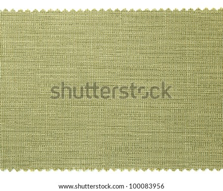 Green fabric swatch samples texture - stock photo