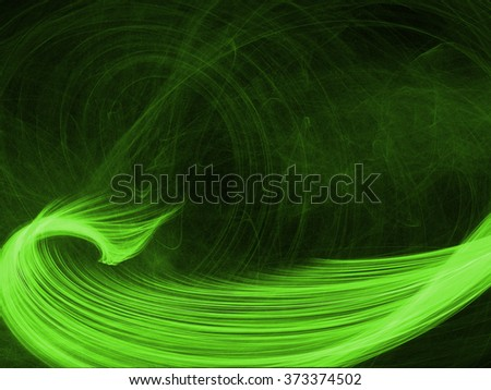 green fantasy frame abstract background - stock photo