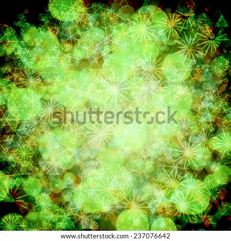 Green festive background. Elegant abstract background with bokeh defocused lights. - stock photo