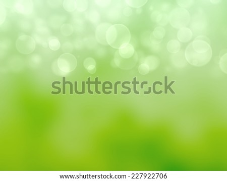 Green Festive Christmas background. Elegant abstract background with bokeh defocused lights. 3d render.