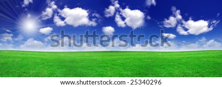 Green field beautiful - stock photo