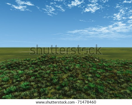 green fields - stock photo