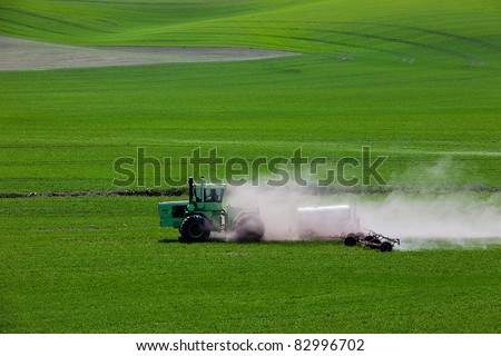 Green Fields in Palouse - stock photo