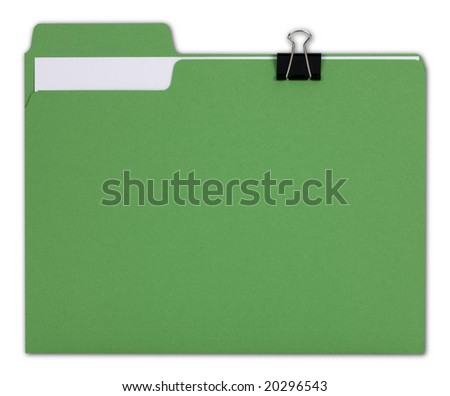 Green File Folder with Path - stock photo