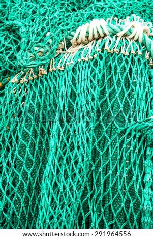 green fishing net - stock photo