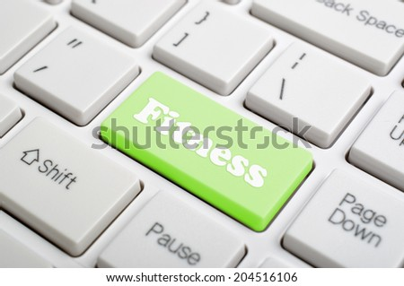 Green fitness key on keyboard