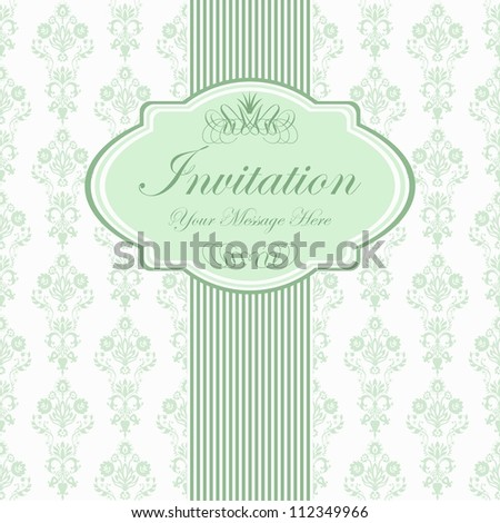 green floral pattern with place left for your text