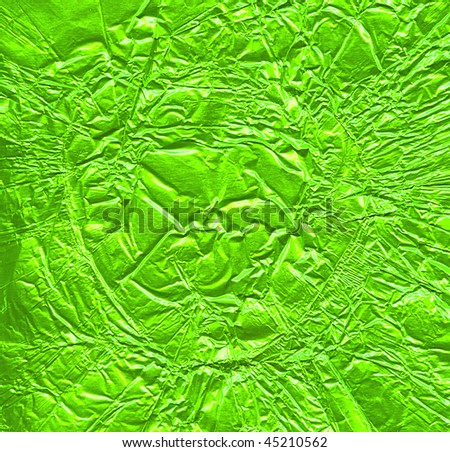 green foil background - stock photo