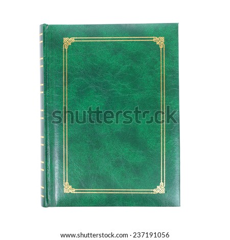 green foliant book isolated on white - stock photo