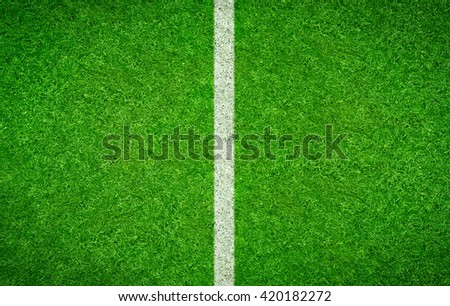 Green Football background with a vertical line